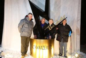 Das Schi - Wunderteam von Kitzbühel anlässlich der Eröffnung vom 75. Hahnenkammrennen