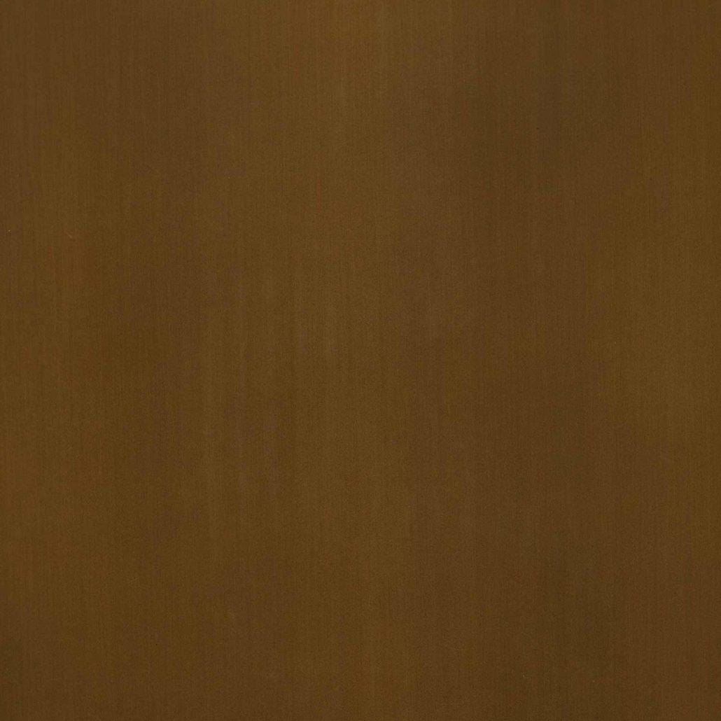 Messing brüniert mit Feinschliff und einbrennlackiert (VAL 122)