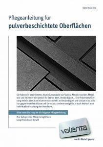 Pflegeanleitung für pulverbeschichtete Oberflächen
