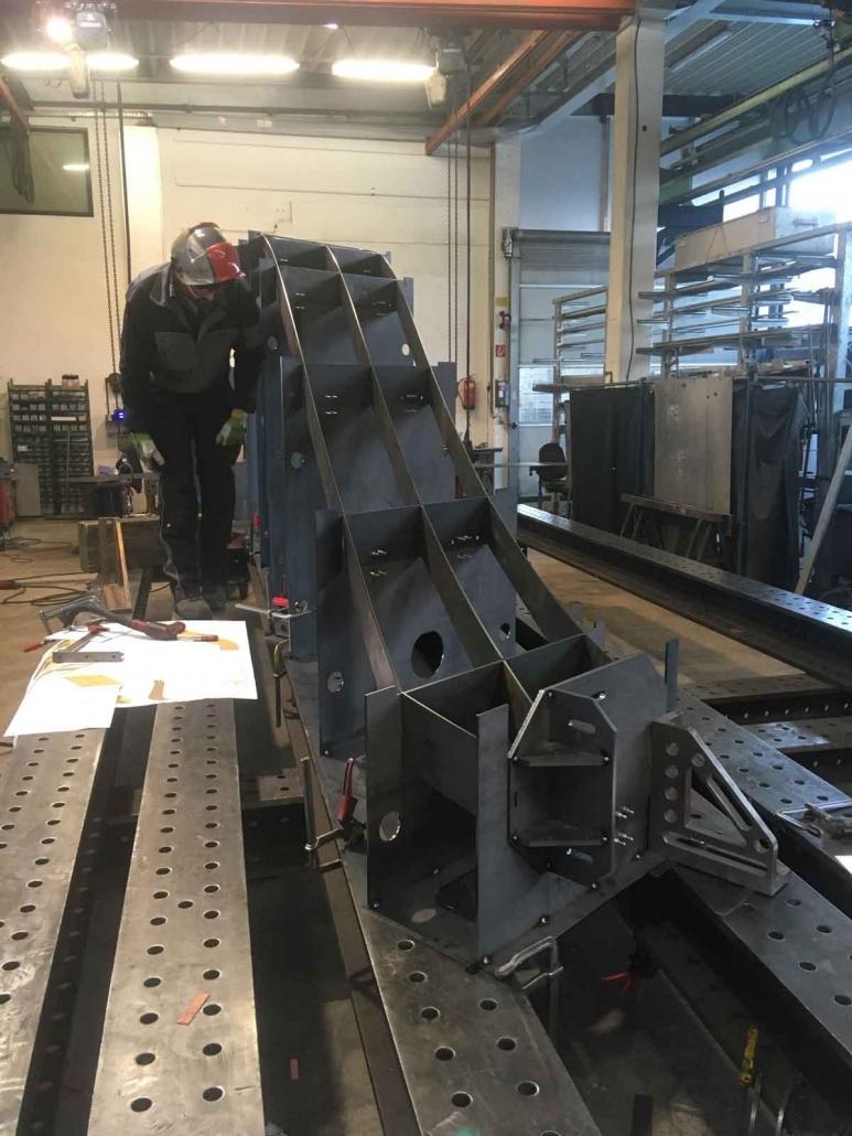 Valenta Metall Anlagenbau Windkanal Bauteil 1